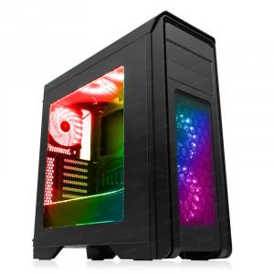 DARK N10 RGB USB 3.0, 5x12cm RGB Fan, Fan Kontrolcülü, Pencereli ATX  Kasa