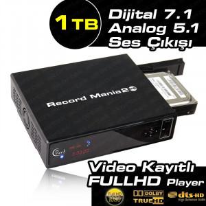 Dark Record Mania 2 Platinum Ed. 1TB Kayıt, 5.1 Analog Ses Çıkışı,1080p MKV, 7.1 DTS/Dolby Medya Oynatıcı