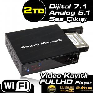 Dark Record Mania 2 Platinum 2TB WiFi, Kayıt, 5.1 Analog Ses Çıkışı,1080p MKV, 7.1 DTS/Dolby Medya Oynatıcı